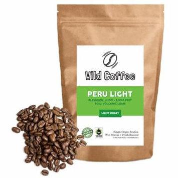 Peru Wild Coffee Beans - Light/Medium Roast - Organic, Fair Trade, Single-Origin Roasted in Austin 12oz