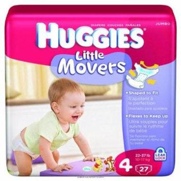 Huggies Supreme Little Movers Diapers, Huggies Supreme Jumbo Step 4, (1 PACK, 27 EACH)
