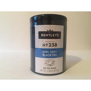 Bentley's harmony tin collection earl grey black tea 50 tea bags (pack of 3)