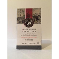 The Boston tea company peppermint herbal tea naturally caffeine free (pack of 3)
