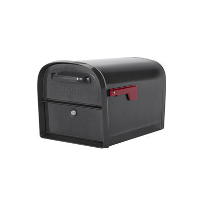 Architectural Mailboxes Oasis Locking Mailbox 11.2-in x 11.4-in Metal Pewter Lockable Post Mount Mailbox 6300P-10