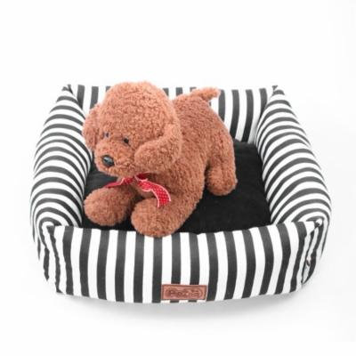 Stripes Puppies Teddy Pet Nest Washable Cat Litter Bite Resistant Dog Sofa Bed Kennel , Cushion