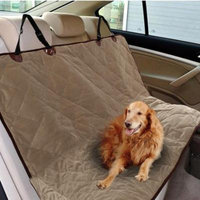 Margot Pet Cushion -Pet Car Back Rear Seat Cover Short Plush Dog Cat Seat Bench Cover Brown