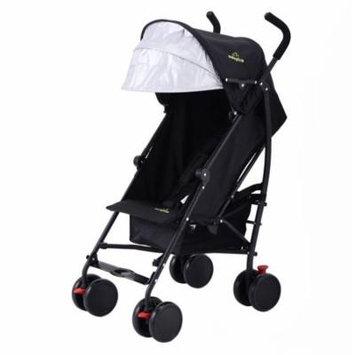 Lightweight Umbrella Baby Toddler Stroller with Storage Basket - Black