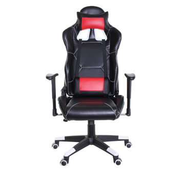 TimeOffice Ergonomic Video Gaming Chair Race Car Style with PU leather and Lumbar Cushion for Computer Gaming and Office Working