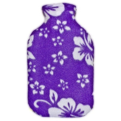 Warm Tradition Purple Orchid Fleece Covered Hot Water Bottle - Bottle Made in Germany, Cover Made in USA