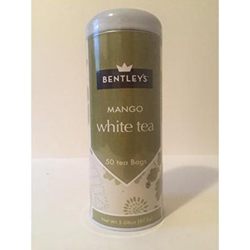 Bentley's tranquility line mango white tea 50 tea bags (pack of 3)