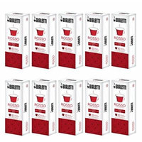 Bialetti Coffee Blend Red Compatible Nespresso - Set 10 packages of 10 capsules - Red