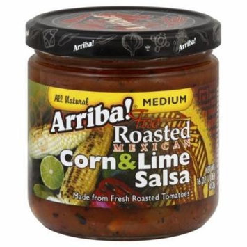 Arriba! Fire Roasted Mexican Medium Corn & Lime Salsa, 16 Ounce Jars (Pack of 6)