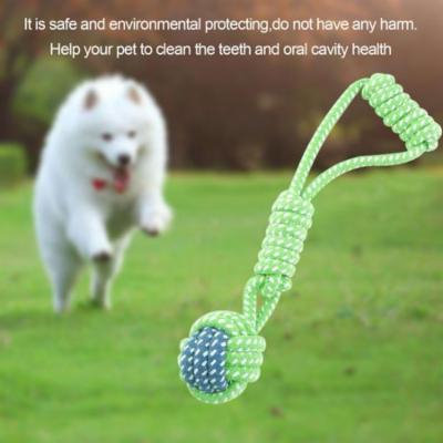 Durable Cotton Dog Chew Bite Rope Interaction Training Molars Teeth Clean Pet Toy