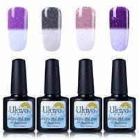 Ukiyo Gel Nail Polish Sets 4Pcs Temperature Thermal Color Changing Snowflake Color 10ml 0.33fl.oz UV LED Soak Off Long Lasting Lacquer Varnish Nail Gelish (#5)