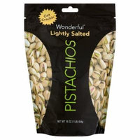 Wonderful Pistachios (Lightly Salted Pistachios, 16oz Pack of 1)