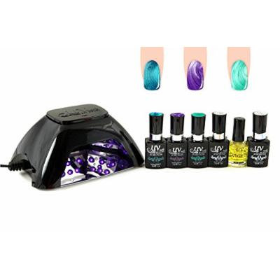 UV-NAILS BEST Salon Quality UV Gel Nail Polish Starter Kit with Black LED Lamp and Colors: G-75, G-76, G-74