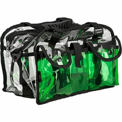 Casemetic Giardino Carry Clear Set Makeup Bag, Green, 2 Pound