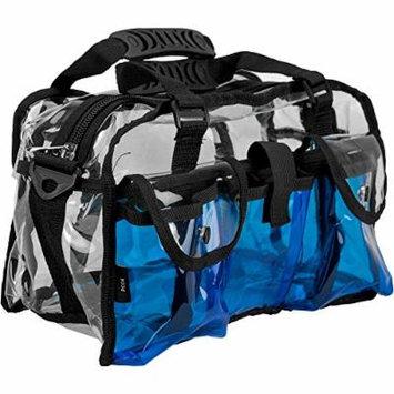 Casemetic Giardino Carry Clear Set Makeup Bag, Blue, 2 Pound