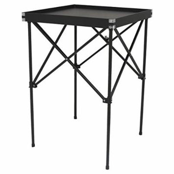 Hiker Tavolo Makeup Organizer Table, Black Leatherette, 18 Pound