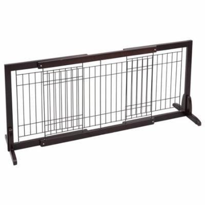 Solid Wood Adjustable Free Stand Dog Gate Pet Fence