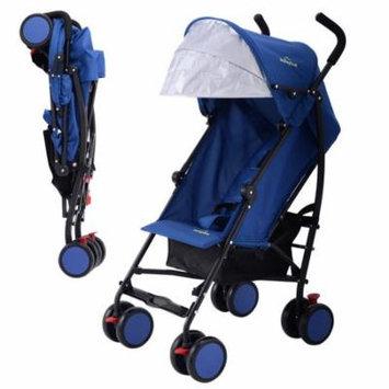 Lightweight Umbrella Baby Toddler Stroller with Storage Basket - Blue
