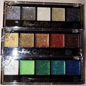 Set of 3 Glitzy Glam Glitter Eye Shadow Palette:Rock n Roll, Cali Sun & Mermaid