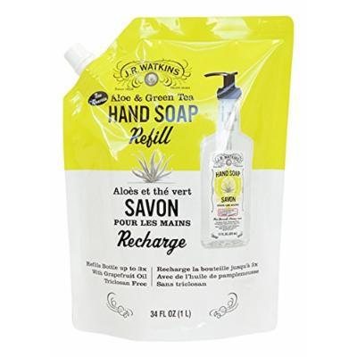 J.R. Watkins Hand Soap RefillSavon, Aloe & Green tea 34 fl oz , pack of 1