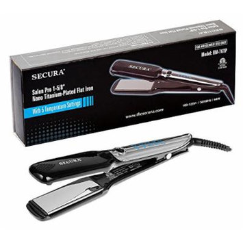Salon Pro Nano Titanium Flat Iron Hair Straightener | 1 5/8 Inch Straightening Iron by Secura