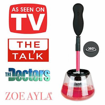 Zoë Ayla Makeup Brush Cleaner, Cleans & Dries Dirty Brushes in Seconds, Eliminates Bacteria and Improves Skin. Electronic & Automatic, Premium Quality, Mess Free, Healthier Face