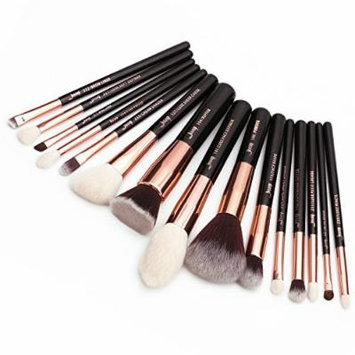 Jessup 15Pcs Rose Gold/Black Professional Makeup Brushes Set Make up Brush Tools kit Foundation Powder Definer Shader Liner T160