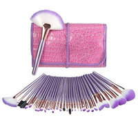 Makeup Brush Set, USpicy 32 Pieces Professional Makeup Brushes Essential Cosmetics With Case, Face Eye Shadow Eyeliner Foundation Blush Lip Powder Liquid Cream Blending Brush-Purple