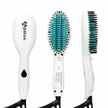 Apalus Mini Hair Straightening Brush, Ceramic Hair Straightener Brush With Anions Generator For Silky Hair, Anti Scald, Detangling Hair Brush, Perfect For Traveling On The Gym With A Bag