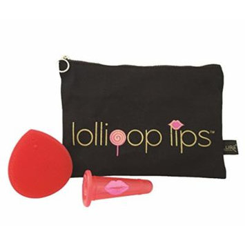 Lip Plumper Enhancer for Full Lips with Makeup Bag / Clutch / Wallet and Exfoliating Brush - Lollipop Candy Lips Holiday Gift Ideas Set
