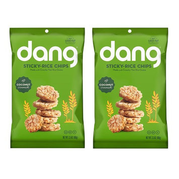 Dang Sticky Rice Chips 3.5oz, 2 Pack (Coconut Crunch)