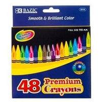 Bazic 48 Count Premium Quality Color Crayon(Case of 48)