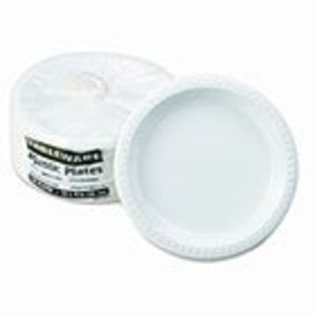 Tablemate TM10644WH Plastic Dinnerware, Plates, 10 1/4
