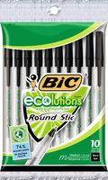 Bic 10 Count Black ecolutions Medium Round Stic Pens
