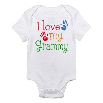 CafePress Baby I Love Grammy Infant Bodysuit