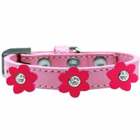 Flower Premium Collar Light Pink With Bright Pink Flowers Size 16