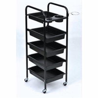 Salon Hair Storage Trolley, Estink Hairdresser 5-Tier Drawers with Castors, Multifunctional Beauty Makeup Rolling Cart