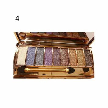9 colors Waterproof Makeup Eyeshadow Glitter Palette with Brush AMZSE