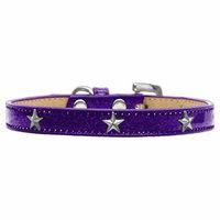 Silver Star Widget Dog Collar Purple Ice Cream Size 12