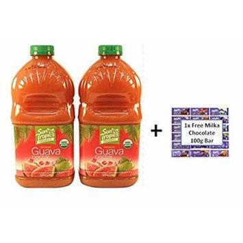2-pack Organic Guava Nectar 64oz each PLUS free 100g Milka Bar