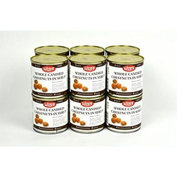 Clement Faugier Whole Candied Chestnuts in Syrup Case of 12 Units - Wholesale