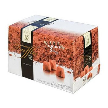 Donckels Cocoa Dusted Belgian Chocolate Truffles (16 oz. per box, 3 pk.) (pack of 6)