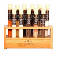 The Spice Lab Sea Salt Premium Gourmet Sampler Collection 2 - 11 Pyrex Tubes - Taste the world of salts