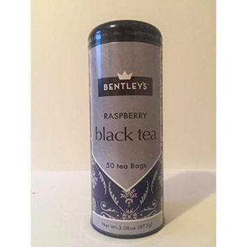 Bentley's tranquility line raspberry black tea 50 tea bags (pack of 3)