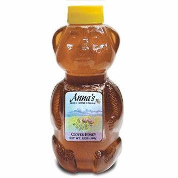 Anna's Honey Bear Squeeze Bottle 12oz (Clover, 3)