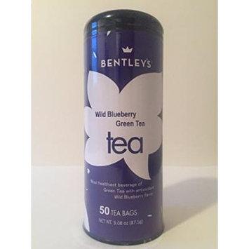 Bentley's Signature line wild blueberry green tea 50 tea bags (pack of 3)