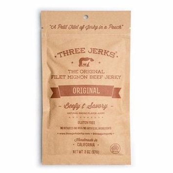 Three Jerks The Original Filet Mignon Beef Jerky 2 oz Pouches - Pack of 3