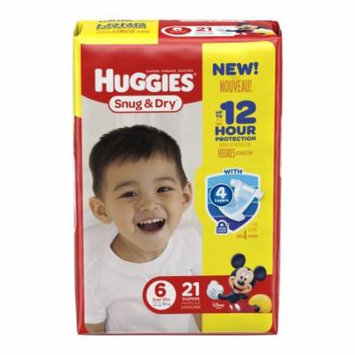 Huggies snug and dry diapers, step 6, jumbo pack part no. 40674 (84/case)