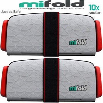 Mifold 2-Pack MF01-US/COM Grab-and-Go Car Booster Seat (Pearl Grey)