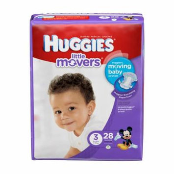 Huggies little movers diapers, step 5, jumbo pack part no. 40798 (84/case)